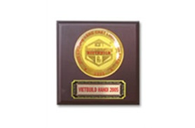 Gold medal of product quality Ha Noi Vietbuild 2005